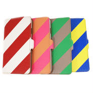 iPhone6/6S本革手帳型ケース ストライプ 【iPhone Leather Case for 6/6s STRIPE】