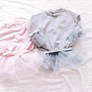 kids★tulle pullover Peprum tops
