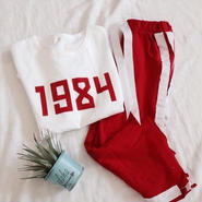 kids★1984T-shirt+line  wide pants (2点セット)