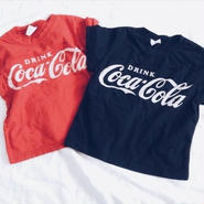 kids★vintage風 Cocacola damage Tshirt