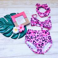 kids★leopard swim wear 3set