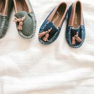 kids★denim moccasin shoes