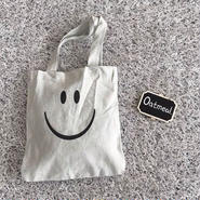 smile cotton tote bag