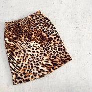 kids★leopard tight skirt