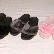 fur sandal