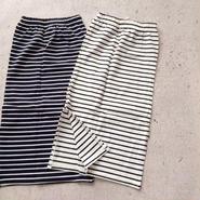 kids★border long skirt