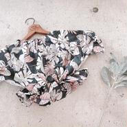 kids★offshoulder Flower  peprum tops