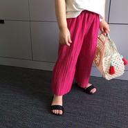 kids★pleats wide pants