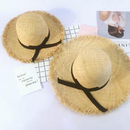 【ladies】fringe straw hat