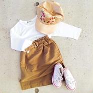 kids★ベルト付き tight skirt