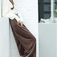 velours pleats wide pants(リング付き)