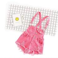 kids★damage pink salopette