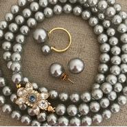 Lady Pearl Set Light Gray