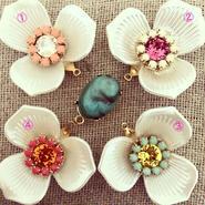 Perle de Fleur  Turquoise Fever 4colors イヤリング/ピアス