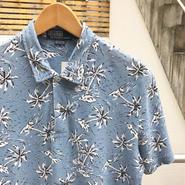 PoloRalphLauren/ポロラルフローレン アロハ柄 鹿の子ポロシャツ 2000年代 (USED)