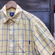 STUSSY/ステューシー チェック半袖シャツ 90年代 Made In USA (USED)