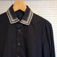 ALEXANDERMQUEEN /アレクサンダーマックイーン シルク襟シャツ (USED)