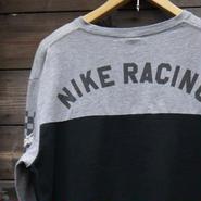NIKE/ナイキ RACING ロンT チェッカーフラッグ 2000年代 (USED)