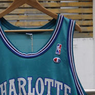 Champion/チャンピオン NBA バスケットタンクトップ  CHARLOTTE HORNETS 41 RICE (USED)