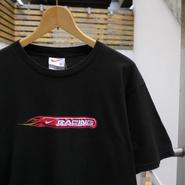 NIKE/ナイキ RACINGファイヤーパターンTシャツ 90年代  (USED)