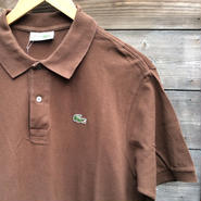 CHEMISE LACOSTE/シミーズラコステ 鹿の子ポロシャツ Made In France (USED)
