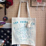 "MAP TOTE / マップトート ""SAN FRANCISCO"" MadeInUSA (NEW)"