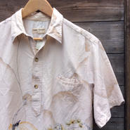 COOKE STREET/クークストリート 和柄プルオーバーアロハシャツ 80年代 (USED)