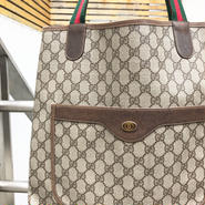 GUCCI/グッチ モノグラムトートバッグ 90年前後 Made In ITALY (USED)