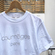 courreges/クレージュ ロゴ刺繍Tシャツ Made In ITALY 90年代 (USED)