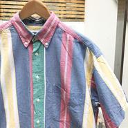 GANT/ガント 半袖ストライプシャツ 90年代 (USED)