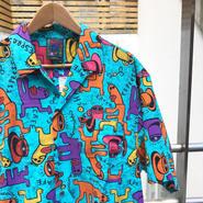 BIG HED/ビッグヘッド コーヒー柄 半袖シャツ 90年代 (USED)