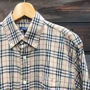 BURBERRYS/バーバリー ボタンダウンノバチェックシャツ 2000年代 (USED)