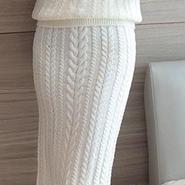 海外 インポート ホワイト ニット セーター ミディ 丈 スカート セット アップ ワンピース