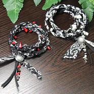 黒バンダナ ネックレス&ブレスレット  2Waytype