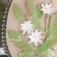 ジィ・ガントフタ Jie Gantofta 陶板(S) 白い花