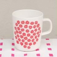 マリメッコ marimekko <Puketti>マグカップ(ホワイト×レッド)フィンランド限定カラー
