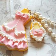 <HERZ+PLUS>クッキードレスバッグチャーム:ピンク