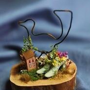 アンティークヒールの草花たち