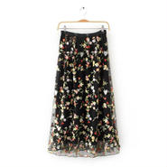 花柄レース刺繍スカート