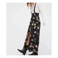 花柄サスペンダースカート