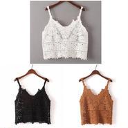 かぎ編みキャミソール