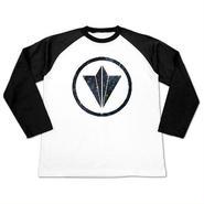 """Circle Logo """"Star"""" White x Black Unisex Raglan"""