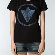 """Circle Logo """"Star"""" Girls Tee Black"""