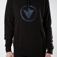"Circle Logo ""Star"" Black Unisex Hoodie"
