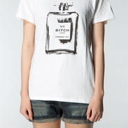 Smell the Like BITCH Tee  Girls White