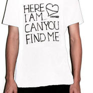 Here I am... Can You Find Me Tee Mens White