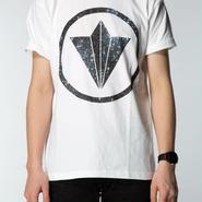 "Circle Logo ""Star"" White Mens Tee"