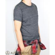 Alternative Apparel(オルタナテ ィブアパレル)Eco-Jersey Crew T-Shirt クルーネックT ブラック