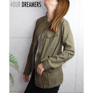 4OUR DREAMERS(フォーアワードリーマーズ)COTTON CANVAS MILITARY JACKET コットンキャンバス ミリタリー ジャケット