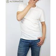 Alternative Apparel(オルタナテ ィブアパレル)Eco-Jersey Crew T-Shirt クルーネックT アイボリー